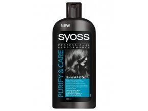 SYOSS Professional Purify And Care Shampoo 500ml - na mastné kořínky a roztřepené konečky