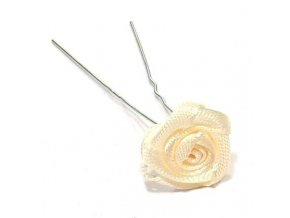 Vlasové doplňky Vlásenka s růžičkou 1ks - béžová