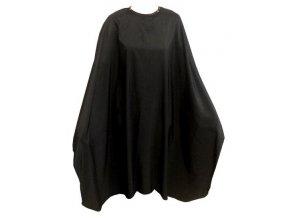 FOX Collection Kadeřnický střihací plášť Silky Line se zapínáním na druky - černý