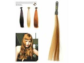 SO.CAP. Rovné vlasy 8001LC 35-40cm pramen melír odstínů M12-26