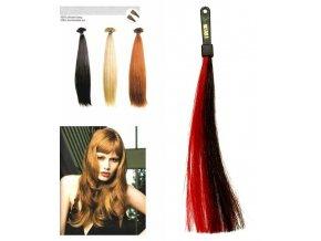 SO.CAP. Rovné vlasy 8001LC 35-40cm pramen melír odstínů M1B-530