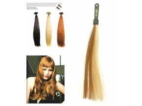 SO.CAP. Rovné vlasy 8001LC 35-40cm pramen melír odstínů M14-1001