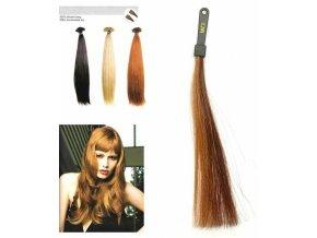 SO.CAP. Rovné vlasy 8001LC 35-40cm pramen melír odstínů M6-27