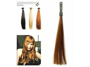 SO.CAP. Rovné vlasy 8001LC 35-40cm pramen melír odstínů M6-12