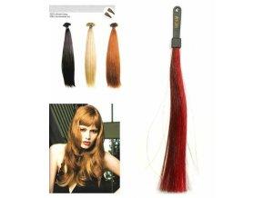 SO.CAP. Rovné vlasy 8001LC 35-40cm pramen melír odstínů M32-530
