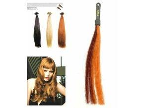 SO.CAP. Rovné vlasy 8001LC 35-40cm pramen melír odstínů M33-21