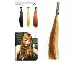 SO.CAP. Rovné vlasy 8001LC 35-40cm pramen melír odstínů M18-24