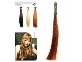 SO.CAP. Rovné vlasy 8001LC 35-40cm pramen melír odstínů M32-130