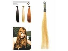 SO.CAP. Rovné vlasy 8001LC 35-40cm pramen melír odstínů M DB3-20