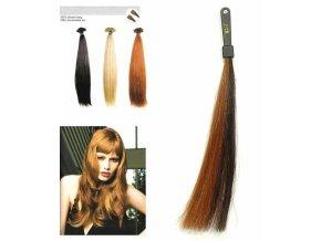 SO.CAP. Rovné vlasy 8000L 50-55cm pramen melír odstínů M2-17
