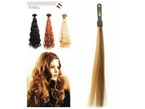 SO.CAP. Vlnité vlasy 8003MC 35-40cm pramen melír odstínů 8-26