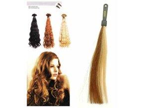 SO.CAP. Vlnité vlasy 8003MC 35-40cm pramen melír odstínů 18-24