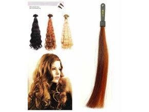 SO.CAP. Vlnité vlasy 8003MC 35-40cm pramen melír odstínů 32-130