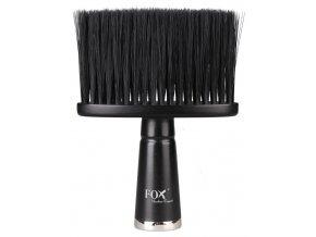 FOX Barber Expert Professional Neck Brush - profi oprašovací štětka - černá