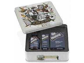 PRORASO Azur Lime Klasická dárková sada přípravků na vousy (středozemní citrus)