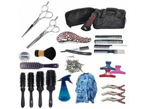 EKONOM Kansai Kadeřnický set pro učně - textilní taška s vybavením pro praváky