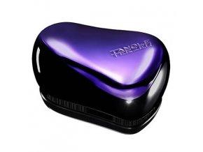 TANGLE TEEZER Compact Purple Dazzle - kompaktní rozčesávací kartáč - lesklý fialový