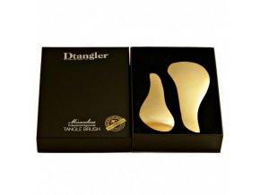 DTANGLER GOLD SET Profesionální rozčesávací kartáče na vlasy s rukojetí - zlaté 2ks