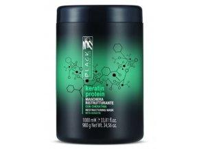 BLACK Keratin Protein Mask 1000ml - keratinová maska na poškozené vlasy