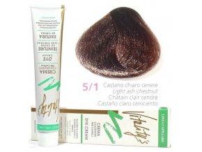VITALITYS Green Permanentní krémová barva - Světle popelavě hnědá 5-1
