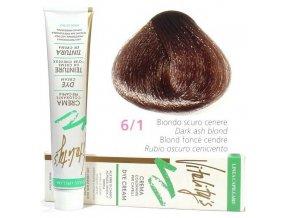 VITALITYS Green Permanentní krémová barva - Tmavě popelavá blond 6-1