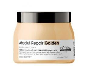 LOREAL Serie Expert Absolut Repair Gold Quinoa Golden Mask 500ml - zlatá maska na velmi poškozené vlasy