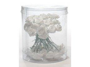 Ozdoby do vlasů Vlásenky s růžičkou 50ks - bílé