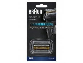 BRAUN Series 9-92B CombiPack Black - náhradní planžeta pro strojky Braun Series 9 - černá