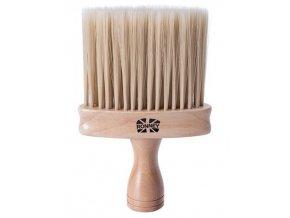 RONNEY Profesionální oprašovač na vlasy a vousy - dřevěný
