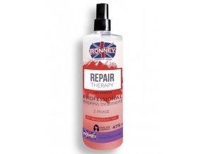 RONNEY Repair Therapy Spray 475ml - dvoufázový kondicionér pro poškozené vlasy