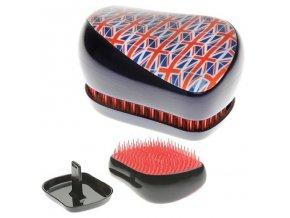 TANGLE TEEZER Compact - kompaktní kartáč na rozčesávání vlasů - Britská vlajka