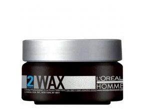 LOREAL Homme Wax 50ml - silně fixační matující hlína pro intenzivní matný efekt
