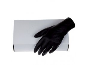 BLACK Pomůcky Nitrilové rukavice pro vícenásobné použití 100ks černé - velikost XXLarge