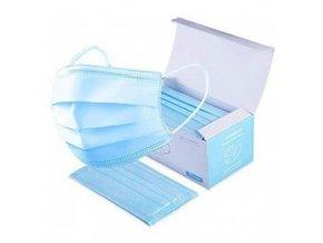 Hygienická rouška 50ks Ochranné jednorázové třívstvé roušky z netkané textilie