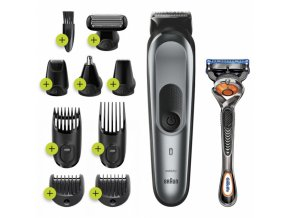 BRAUN MGK 7221 All-in-one Trimmer 10in1 víceúčelový zastřihovač + holicí strojek Gillette