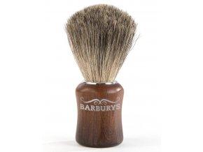 BARBURYS Grey Walnut Štětka na holení - jezevčí štětiny
