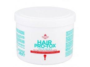 KALLOS KJMN Hair Pro-Tox Mask 500ml - vlasová maska s keratinem a kyselinou hyaluronovou