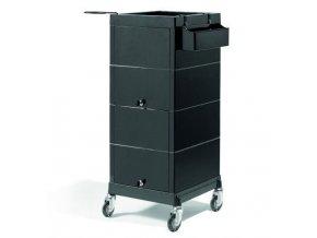 SIBEL Discrete Lock uzamykatelný kadeřnický vozík - černý