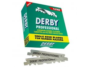 DERBY Professional Platinum Single Edged Blades 100ks - poloviční žiletky