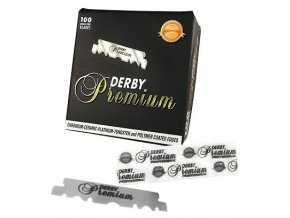 DERBY Premium Ceramic Platinum Single Edged Blades 100ks - poloviční žiletky