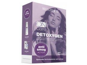 SELECTIVE Oncare DETOXYGEN SET - šampon a lotion pro detoxikaci vlasů s antismogovým účinkem