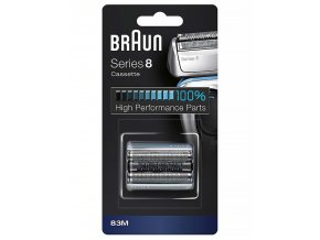 BRAUN Series 8-83M CombiPack - náhradní planžeta pro strojky Braun Series 8 - stříbrná