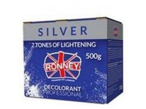 RONNEY Silver Profesionální melírovací prášek 500g - zesvětluje až o 7 odstínů