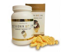 AcePharma METHIONIN Q10 ZINK 100tob. - 3 měsíční kůra pro růst a zdraví vlasů, kůže a nehtů