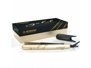KIEPE Professional GOLD Nano Titanium - profesionální žehlička na vlasy - zlatá