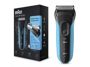 BRAUN Series 3-3010s Wet and Dry Shaver - voděodolný pánský holící strojek