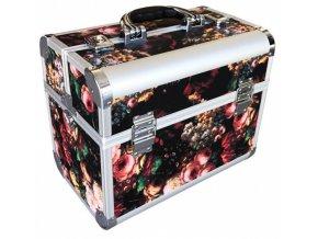 ALU kufr Rose Profesionální kadeřnický kufr ve stylovém designu Black Rose