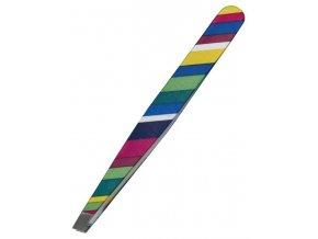 KIEPE Professional Fantasy Color 114 - kosmetická pinzeta, šikmá 10cm - barevné proužky