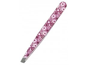 KIEPE Professional Fantasy Color 114 - kosmetická pinzeta, šikmá 10cm - růžová kroužky