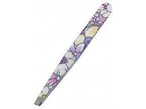 KIEPE Professional Fantasy Color 114 - kosmetická pinzeta, šikmá 10cm - velké barevné květy